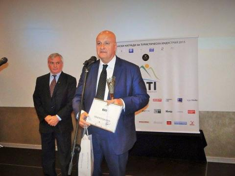 Sharlopov Group was awarded for Overall contribution to the tourism industry on the Balkans